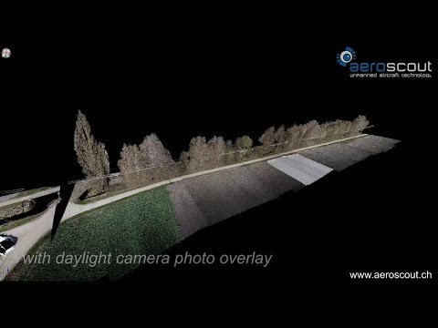 Power Line Laser Scanning with Scout B1-100 UAV Helicopter