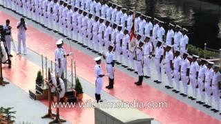 Indian Navy guard of honour: proud India