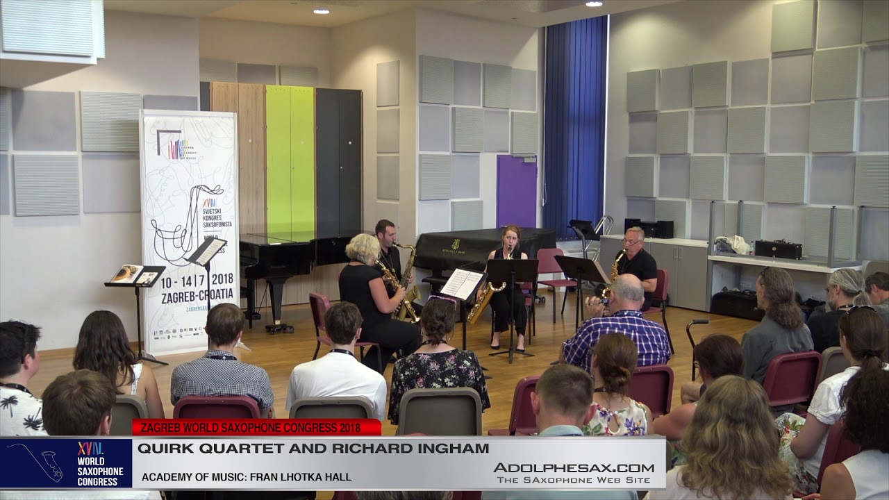 Smudge by Chris Jolly   Quirk Quartet & Richard Inghan   XVIII World Sax Congress 2018 #adolphesax