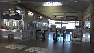 常磐線磯原駅の改札口の風景