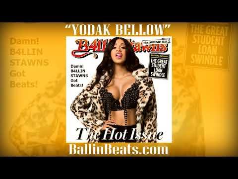 """YODAK BELLOW"" Cardi B Bodak Yellow type beat dark trap rap instrumentals dope 808 new FREE DL"