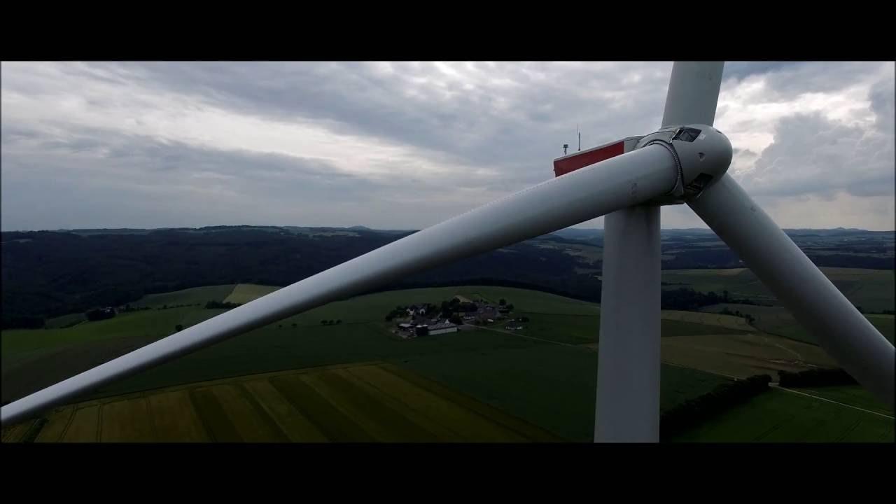 Obton Vindenergi - Droneoptagelser fra tyske vindmøller