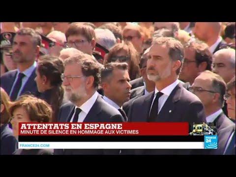 Minute de silence observée à Barcelone après l'attentat du groupe État islamique