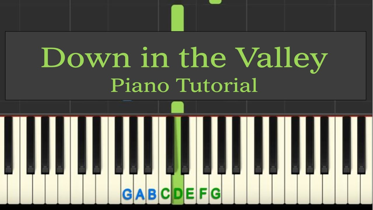 Easy Piano Tutorial: Down in the Valley with free sheet music!