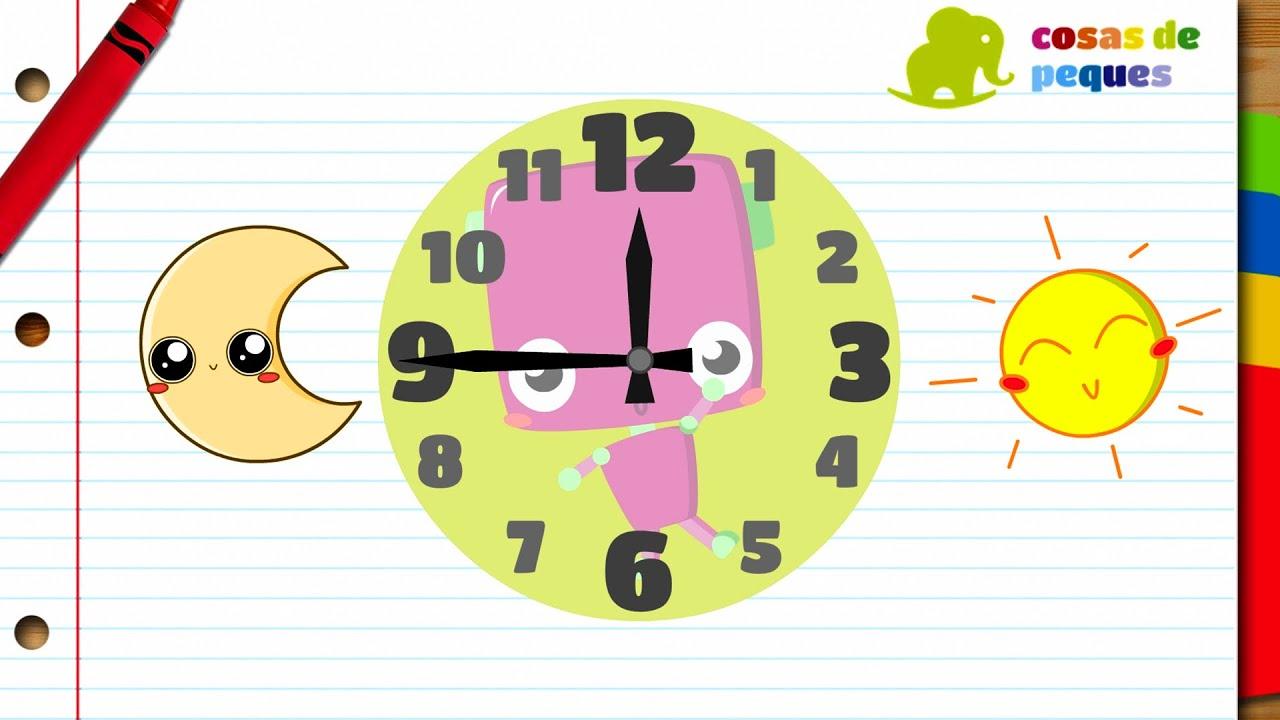 Horas Del Reloj Para Niños Aprender Las Horas Vídeos Educativos Para Niños Youtube