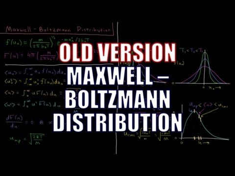 Chemical Kinetics 1.3 - Maxwell-Boltzmann Distribution (Old Version)