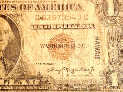 Rare US Dollar Bills: 1935 Series A 'Hawaii Overprint'