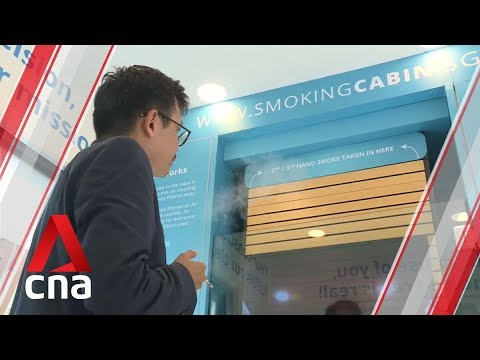 Smoking cabin that turns cigarette smoke into clean air launched in Singapore