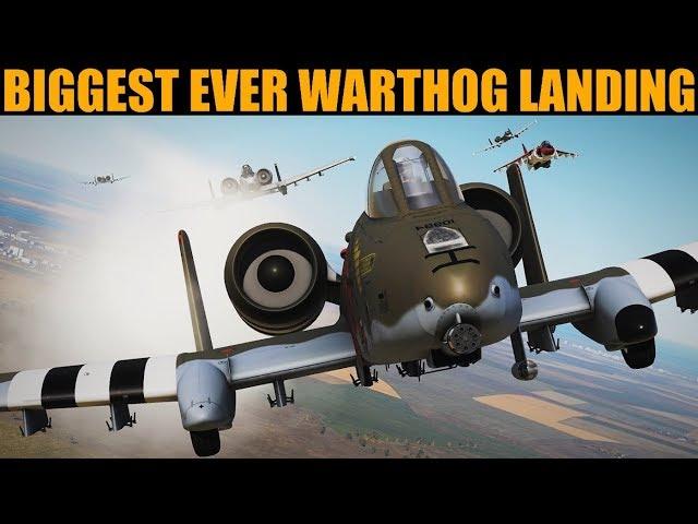 22 x A-10 Warthog Formation Takeoff, Flight & Landing   DCS WORLD
