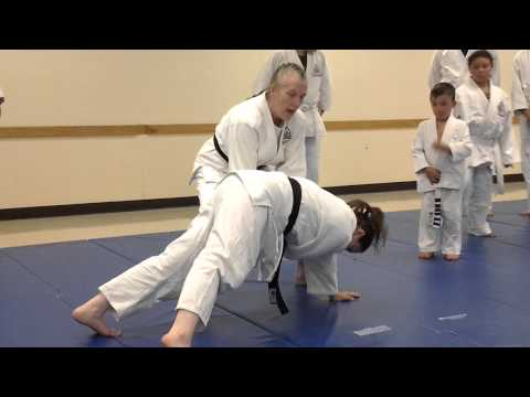 Judo warm ups slapping drills.