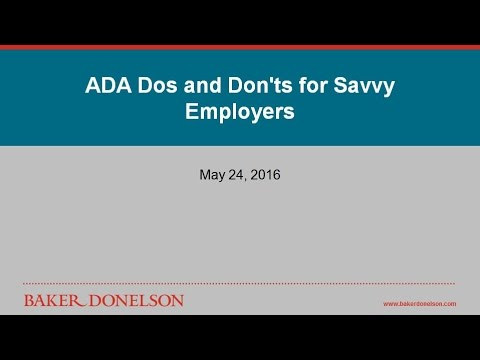 ADA Dos and Don'ts for Savvy Employers