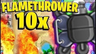 x10 Modded Flamethrower Tower *Altered Dimensions Mod* - BLOONS TD BATTLES MOD