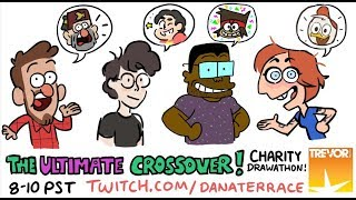 Charity Drawathon Featuring Alex Hirsch, Rebecca Sugar, Ian Jones-Quartey, and Dana Terrace