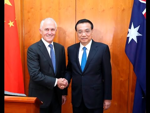 Chinese premier meets with Australian politicians