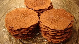 Italian Chocolate Filled Pizzelle Cookies
