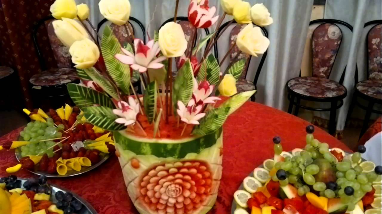 Decorazioni Buffet Frutta : Buffet di frutta youtube