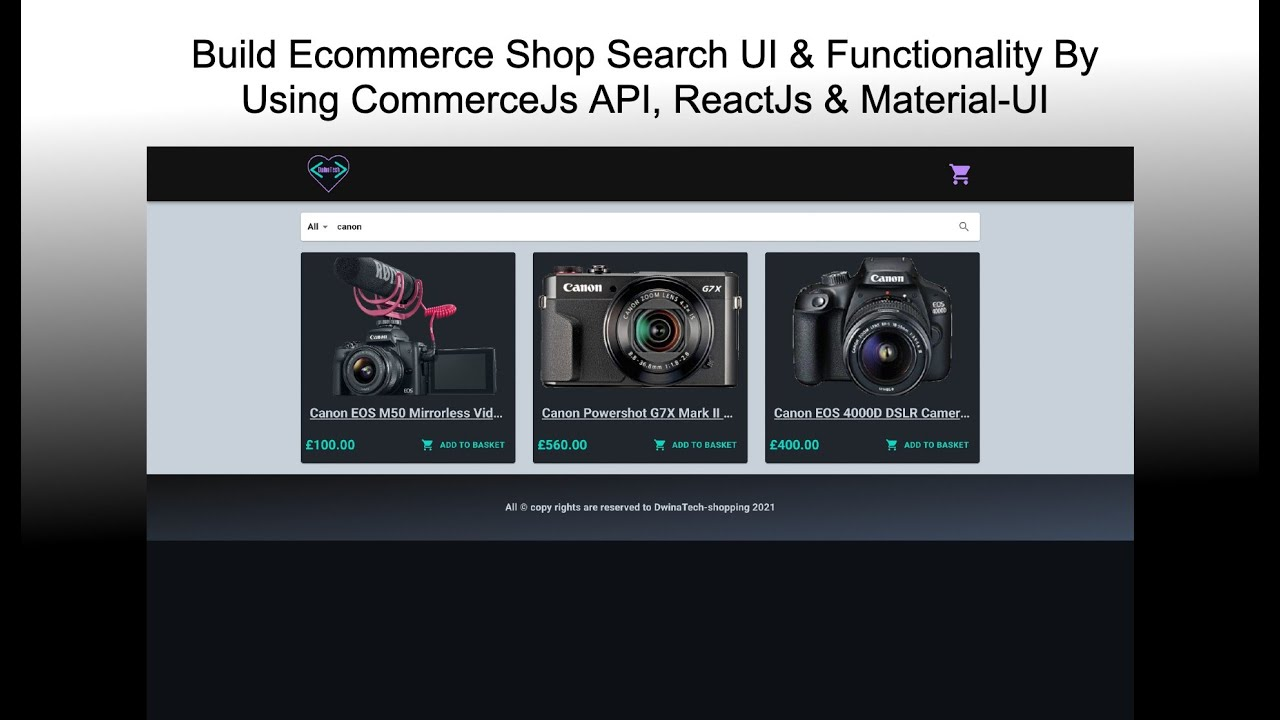 Build a Commerce.js Search UI & Functionality