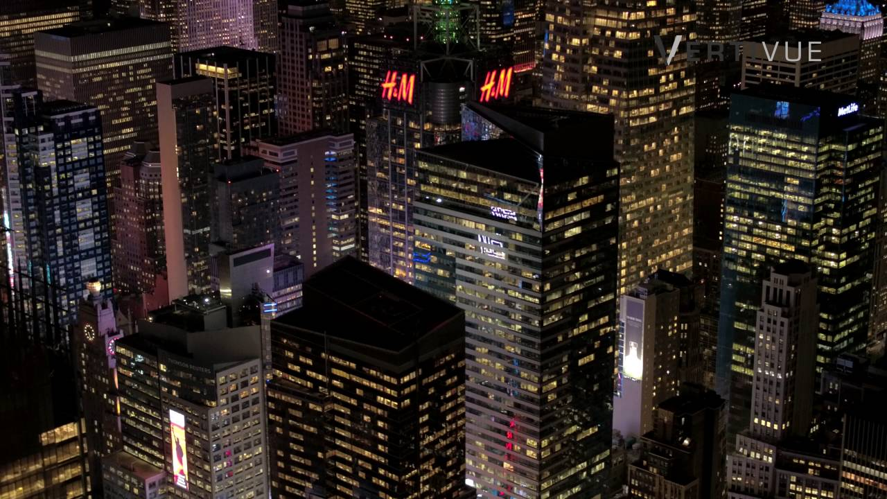 Nyc At Night From Helicopter Using Dji X5r And The