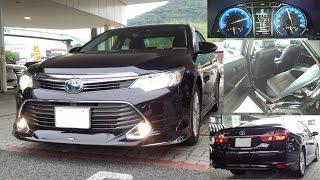【試乗】トヨタ カムリ(AVV50型)後期 ハイブリッドレザーパッケージ(2.5L+モーター)  走行内装紹介 フル加速