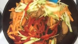 ♥ЛУЧШЕЕ♥Рисовая лапша с курицей и овощами.Правильное питание.Рецепты с курицей.Самые Лучшие Рецепты