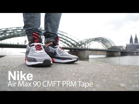 'on-foot-review'-air-max-90-cmft-prm-tape-–-grey-–-black-–-challenge-red-(us-release)