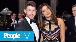 Nick Jonas Poses With Priyanka Chopra & Jokes 'Walking Into Wedding Reception 100047' | PeopleTV
