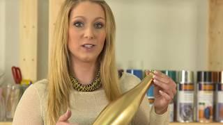 Festdeko in Gold und Weiß mit belton Lacksprays