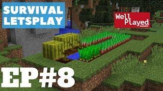 Minecraft Survival Letsplay Ep8 New Crops!