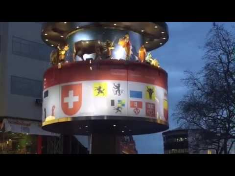 Leicester Square Clock Swiss glockenspiel musical clock