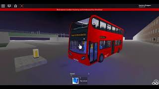 Roblox London Hackney & Limehouse bus Simulator E400H (euro 6) Demostrator SLN on Route 55
