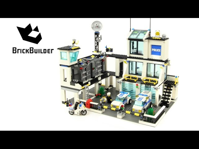 Lego City 7744 Police Headquarters Lego Speed Build Youtube