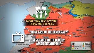17 сентября 2018. Военная обстановка в Сирии. Многотысячные митинги на северо-западе Сирии.