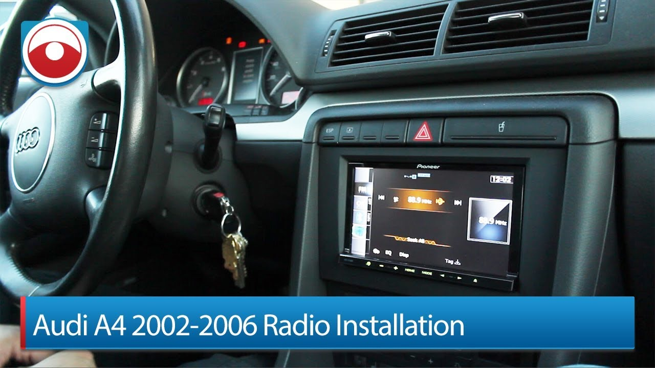 hight resolution of audi a4 s4 02 06 radio installation pioneer avic z140bh