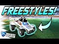 Rocket League FREESTYLE/GOALS: The MOST EXPENSIVE WHITE CAR! - Gameplay, Trading, Dribbles!