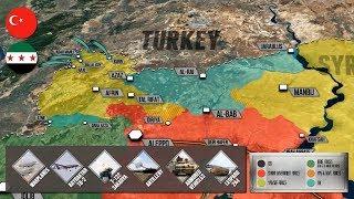22 января 2018 года. Военная обстановка в Сирии. Турция начала операцию против сирийских курдов.