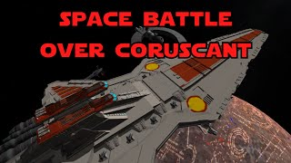 KSP - Star Wars Space Battle over Coruscant