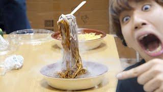 人が食ってたパスタを液体窒素でカチカチにしといたwwwwwwwwww