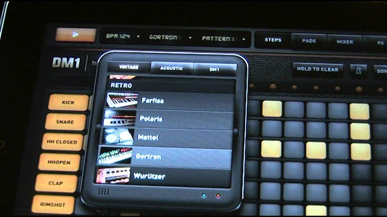 ipad music app dm1 the drum machine youtube. Black Bedroom Furniture Sets. Home Design Ideas