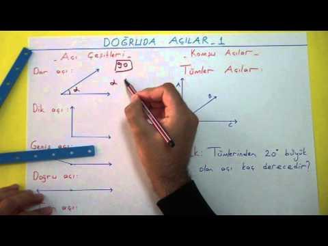 Doğruda Açılar 1 Şenol Hoca Matematik