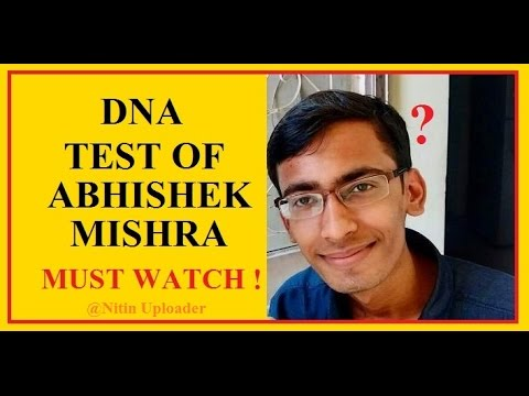 DNA Test Of Abhishek Mishra By Nitin Uploader ! Aaptard DNA Test in Sudhir Chaudhary Style