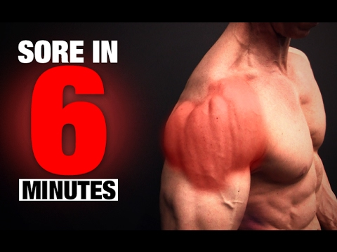 Shoulder Workout (SORE IN 6 MINUTES!)