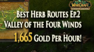 MoP Herbalism Gold Making EP.2: 1,665g Per Hr - Best Herb Routes: Valley of the Four Winds