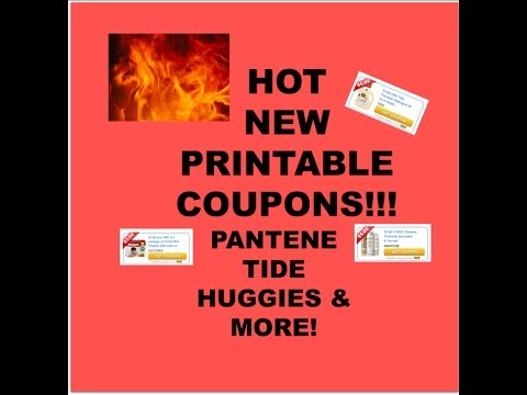 HOT---NEW PRINTABLE COUPONS...TIDE, $5/1,  HUGGIES $3/1 & MORE!