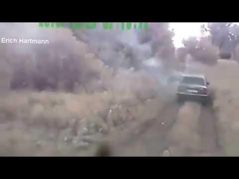 Ополчение Донбасса попало в засаду видео с регистратора на авто   05 07  авгус