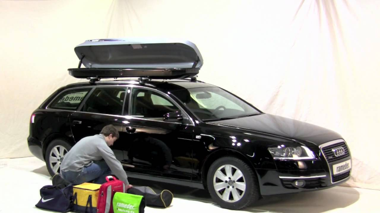 thule pacific 500 dachbox rameder anh ngerkupplung youtube. Black Bedroom Furniture Sets. Home Design Ideas
