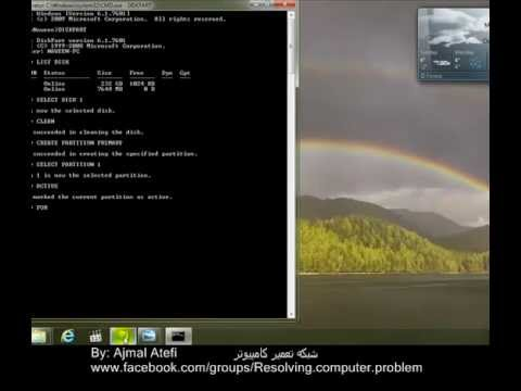 How to make a Bootable USB Flash to installing Windows-Farsi.mp4