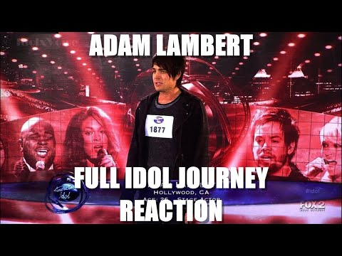 Adam Lambert American Idol Complete Journey REACTION