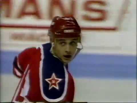 1988 Quebec Nordiques (Canada) - CSKA (Moscow, USSR) 5-5 Friendly hockey match (Super Series)