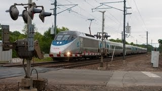 HD Acela Express @ RR Crossing