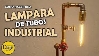 Lámpara de tubos industrial | Estilo Steanpunk